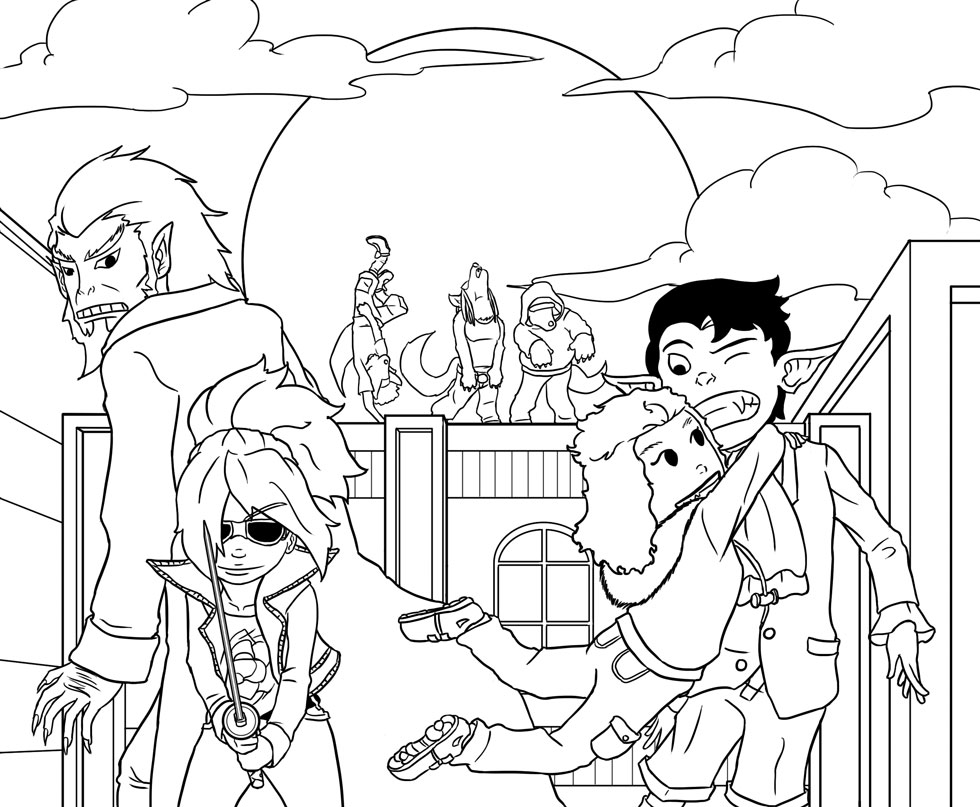 Transyltown Episode 2 Cover Inks