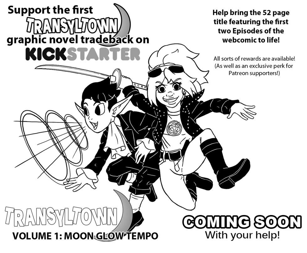 Transyltown Vol 1: Moon Glow Tempo Kickstarter!