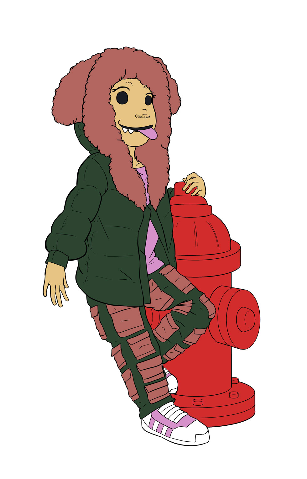 Luna and Fire Hydrant