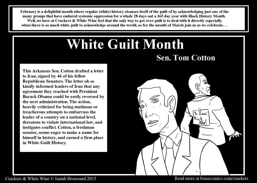 White Guilt Month: Tom Cotton