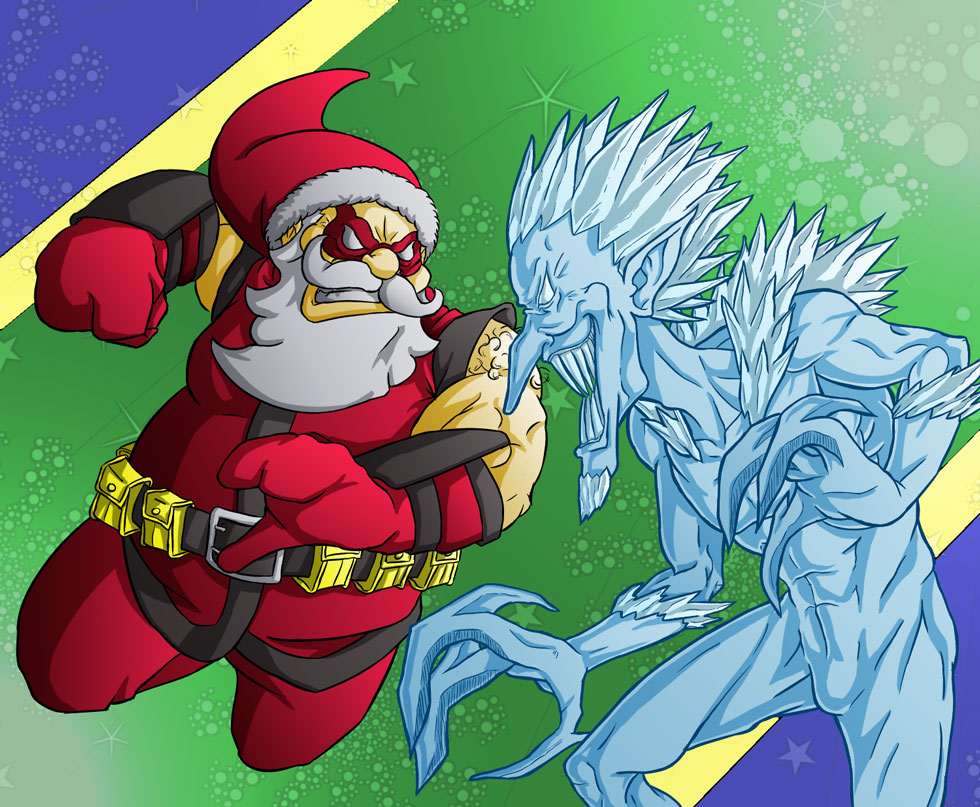 Secret Santa Vs Ripper Frost Colored