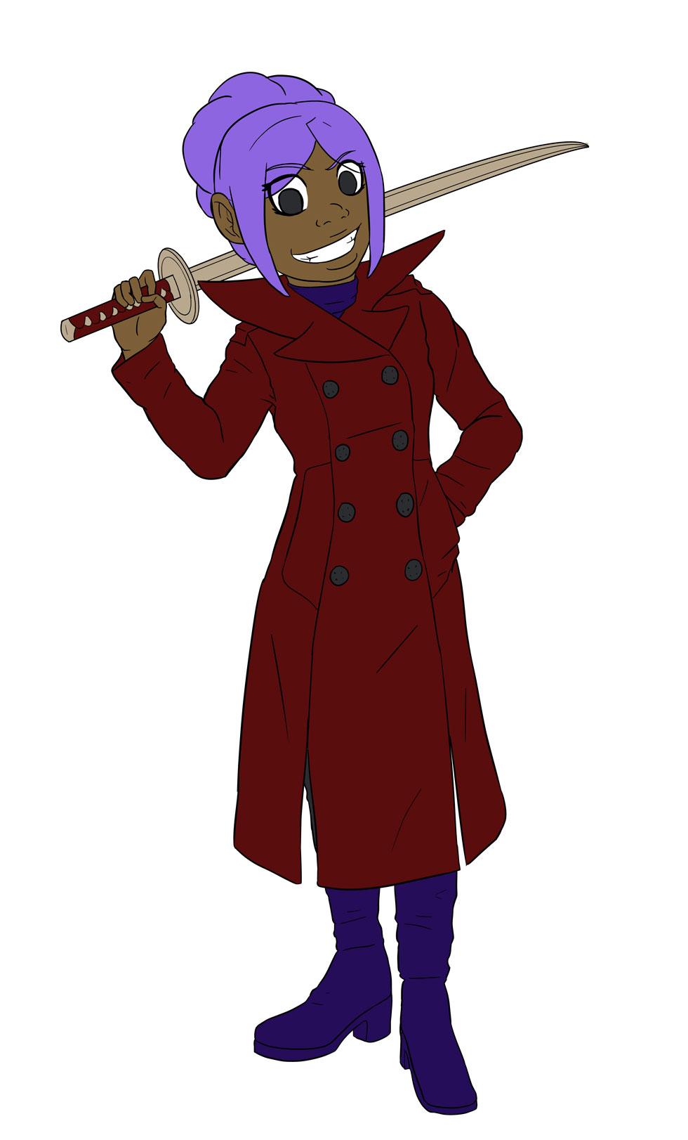 Alicia in Red Coat